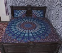 Indian Mandala Brown Cotton Duvet Cover