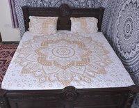 Indian Mandala Cotton Golden Duvet Cover
