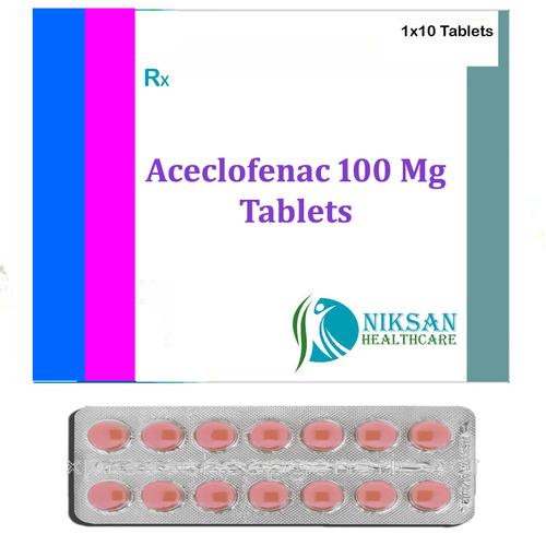 Aceclofenac Tablets 100 Mg
