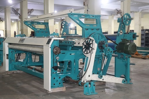 Rapier Loom Machine with double beam attachment