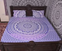 Indian MandalaBlue Cotton Duvet Cover