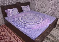 Indian MandalaBlue Cotton Duvet Cover