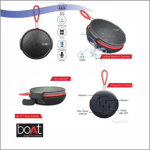 Boat Stone 230 Bluetooth Speaker Black
