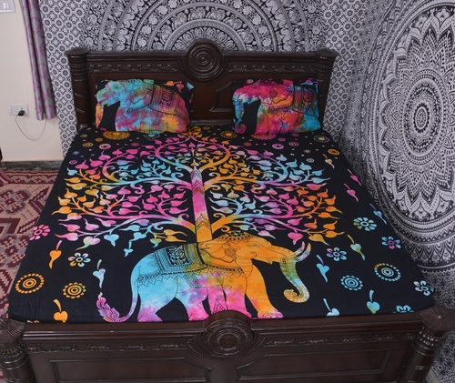 Indian Mandala Cotton Multicolour Elephant Duvet Cover