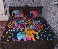 Indian Mandala Cotton Multicolour Elephant Duvet Cover