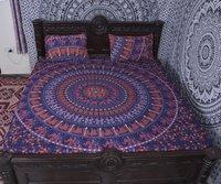 Indian Mandala Cotton Blue Elephant Duvet Cover