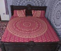 Indian Mandala Cotton Pink colour Duvet Cover