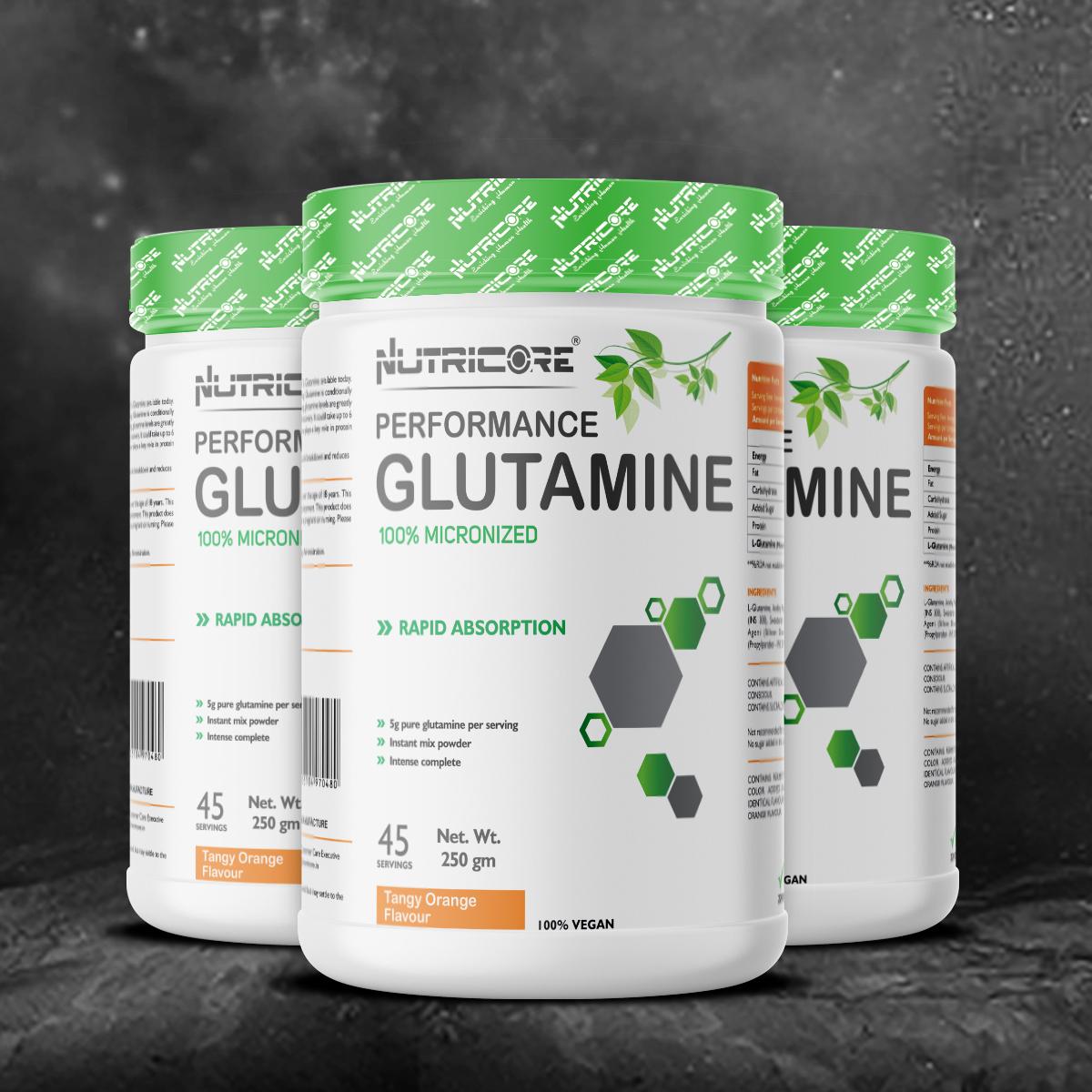 Micronized  Glutamine (Tangy Orange Flavour) 250 Gm