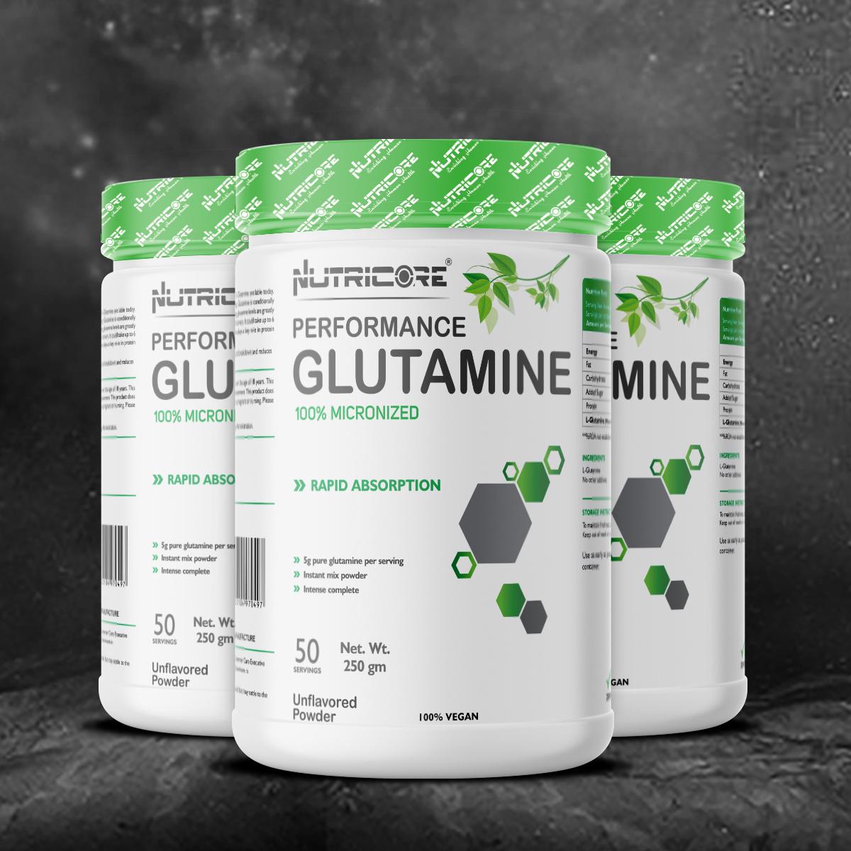 Micronized  Glutamine (Unflavored) 250 Gm