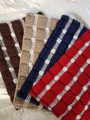 Micro fiber loop bath mats