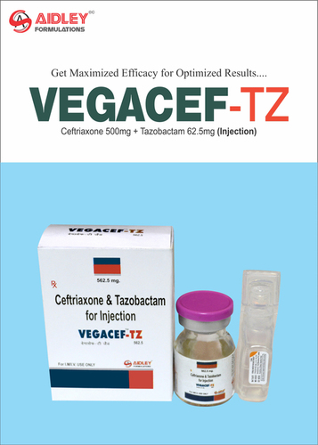 Ceftriaxone 500mg + Tazobactam 62.5mg Injection