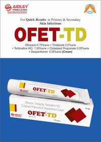 Ofloxacin 0.75% w/w + Tinidazole 2.0% w/w + Terbinafine Hcl 1.00% w/w + Clobetasol Propionate 0.05% w/w + Dexpanthenol 5% w/w + Methylparabeen 0.20% w/w + Propylparabeen 0.02% w/w