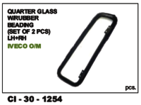 Quarter Glass W /Rubber