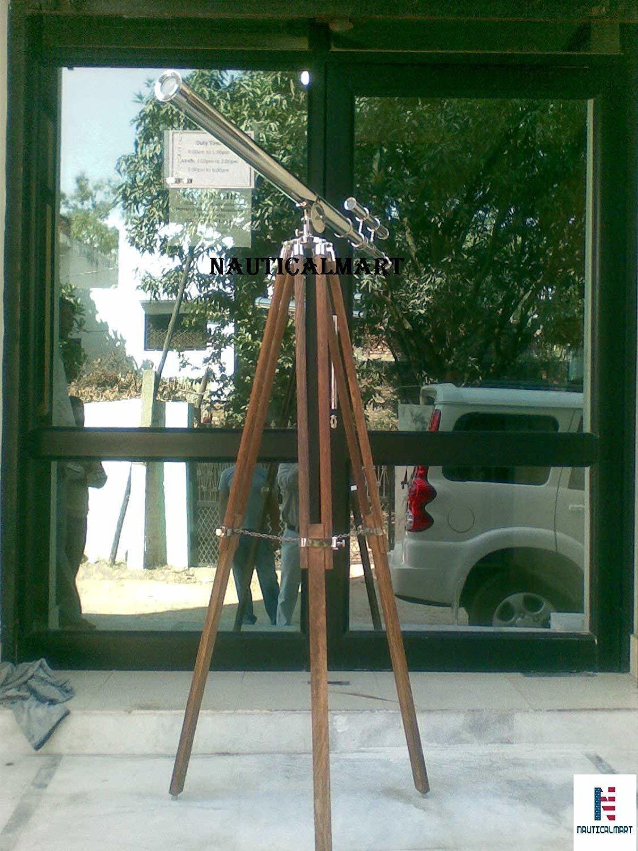 NauticalMart Floor Standing Nickel Telescope Griffith Astro 65