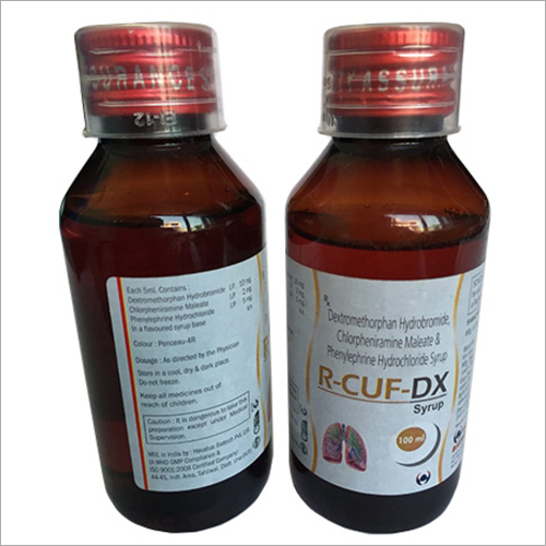 100ml Dextromethorphan Hydrobromide Chlorpheniramine Maleate And Phenylephrine Hydochloride Syrup