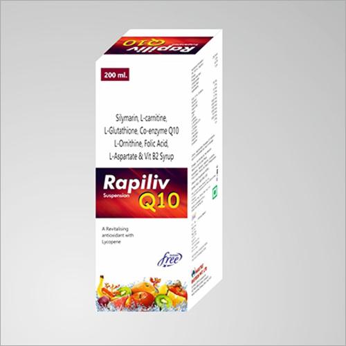 Silymarin L-Carnitine L-Glutathione Co-enzyme Q10 L-Ornithine Folic Acid L-Aspartate And Vit B2 Syrup