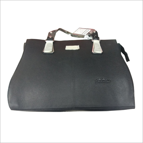 Ladies Leather Black Bag