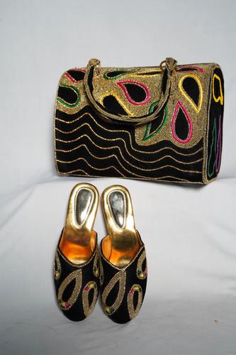 Handmade work ladies bag & shoes