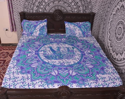 Indian Mandala Cotton Elephant Duvet Cover
