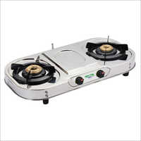 SS Oval Shape Body Gas Stove
