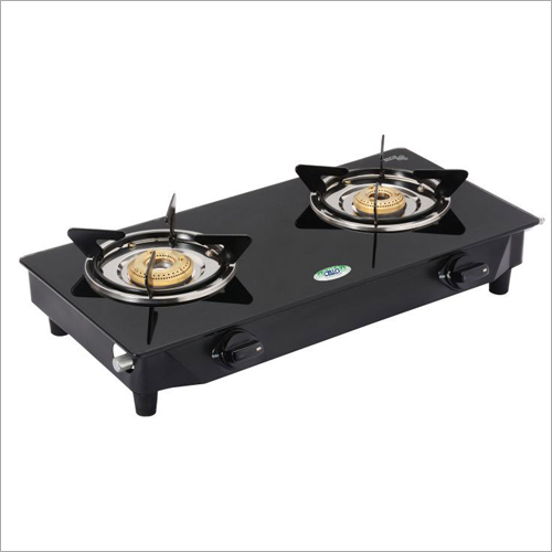 MS Powder Coated Toughened Glass Top 2 Gas Stove