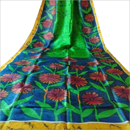 Stylish Mom Chitra Batik Candle Murshidabad Silk Saree