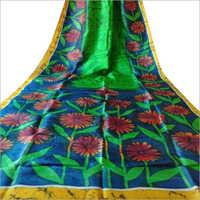 Stylish Mom Chitra Batik Candle Murshidabad Silk Saree
