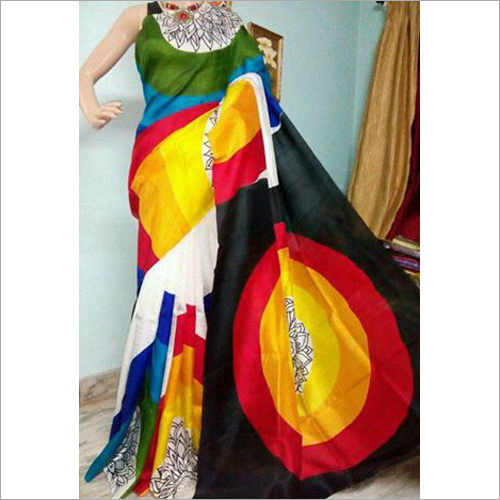 Multicolor Silk Saree