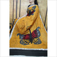 Designer Cotton Mulmul Hand Batik Printed Saree