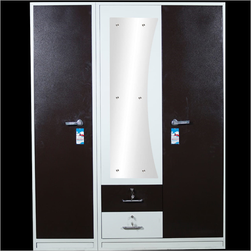 Steel Double Door Almirah With Mirror