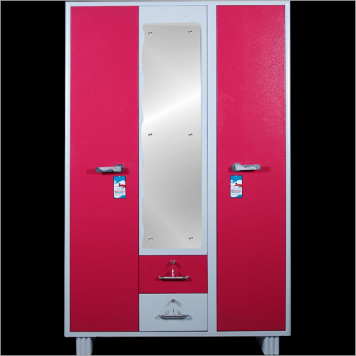 Double Door Steel Almirah With Mirror
