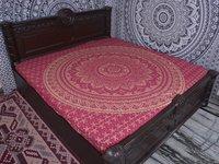 Indian Mandala Cotton Pink Duvet Cover