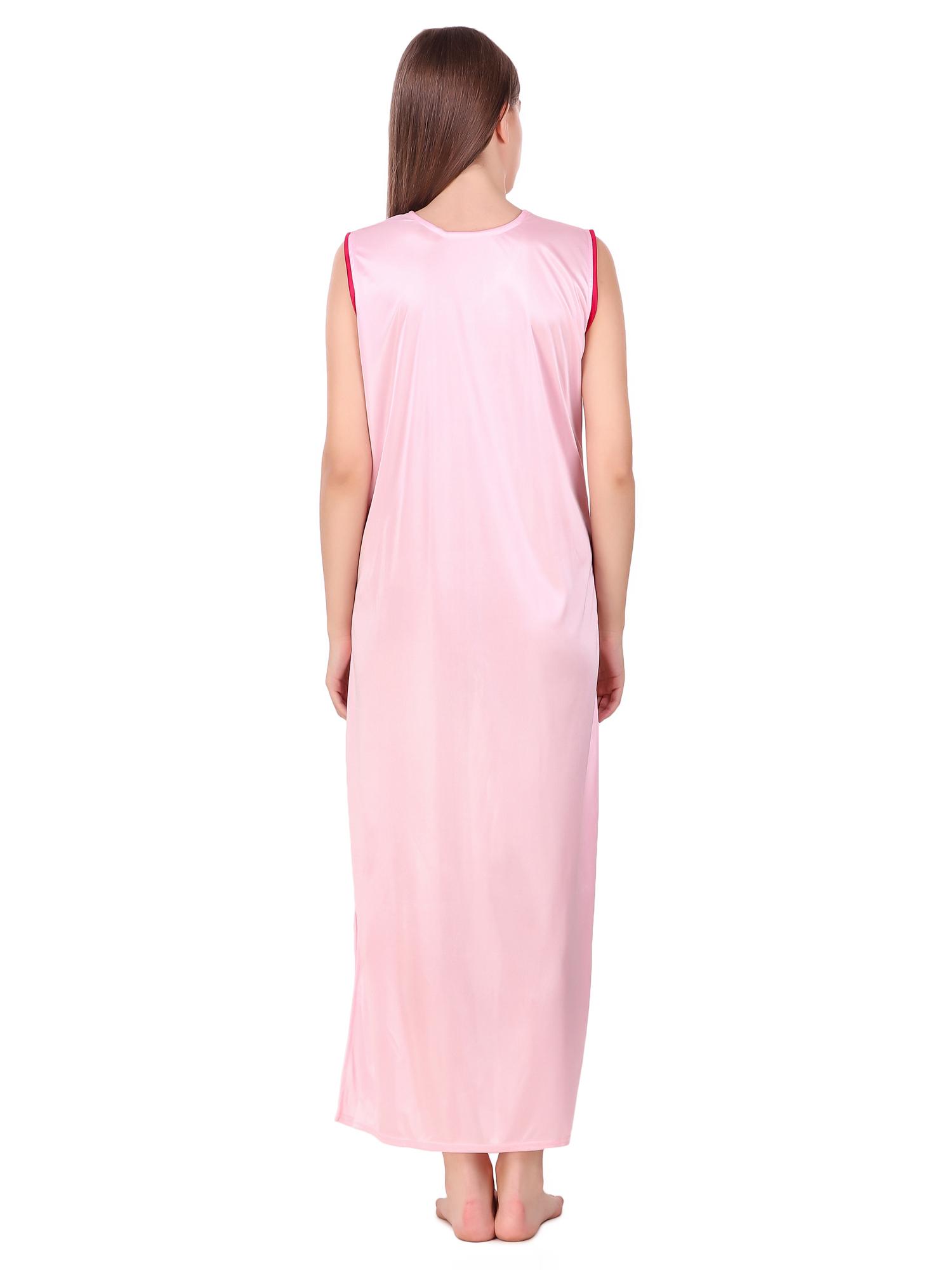 Combo Pack Of 2 Pcs Satin Spandex Nighty Robe Nightwear Set