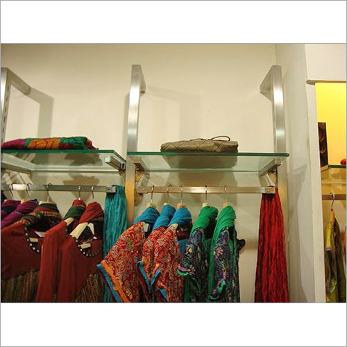 Wall Mounted Garment Glass Display Shelves