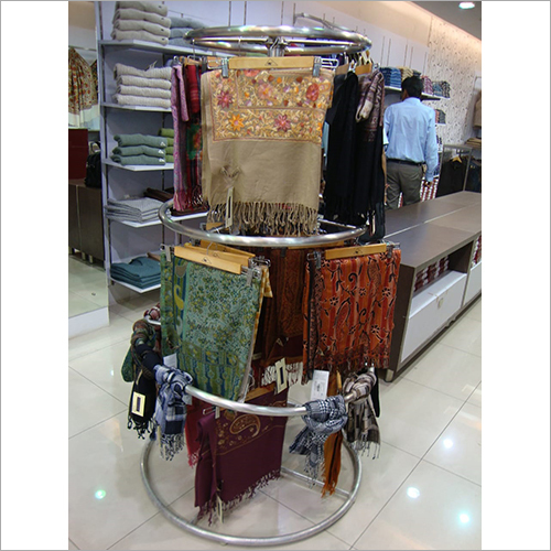 3 Tier Round Spinner Clothing Display Rack