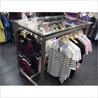Garment Storage Rack & Counter