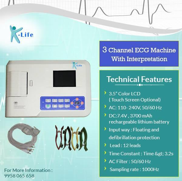 Single Channel ECG Machine