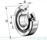 INA Axial angular contact ball bearings 7603 Series