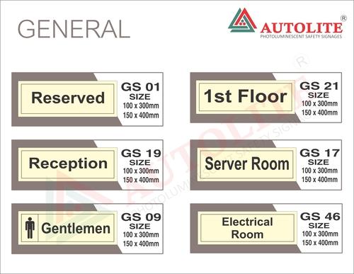 General Signages