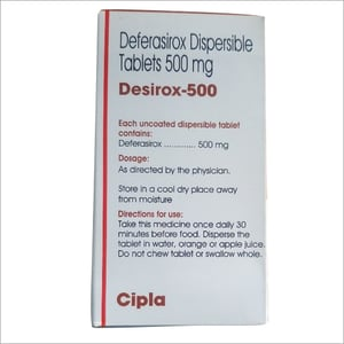 500 MG Deferasirox Dispersible Tablet
