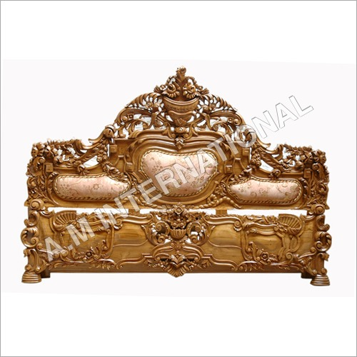 Hand Carved Wooden Bed Header