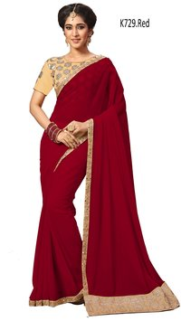 Georgette Embroidered Saree Collection