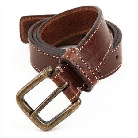Tan Side Stitch Belt.