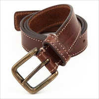Tan Side Stitch Belt.