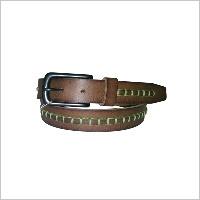 Brown Hand Stitch Belt