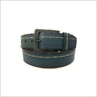 Blue Contrast Stitch Belt