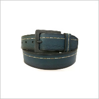 Blue Contrast Stitch Belt