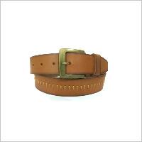 Tan Center Hand Stitch Belt