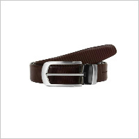 Brown Dotted Look Fromal Reversibal Belt