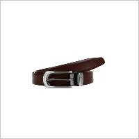 Brown Pattern Look Fromal Reversibal Belt